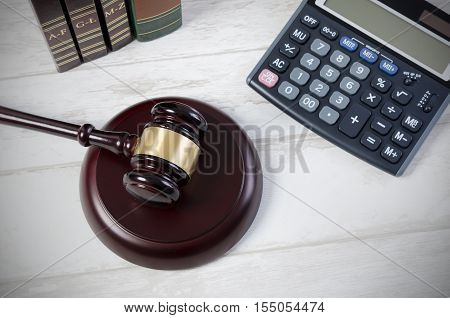 Law Gavel Justice Symbol.