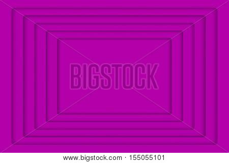 Vector Purple Concentric Rectangle Elements Background. Vector illustration. Background with 5 Violet Rectangle from Shadow. Wed Design.