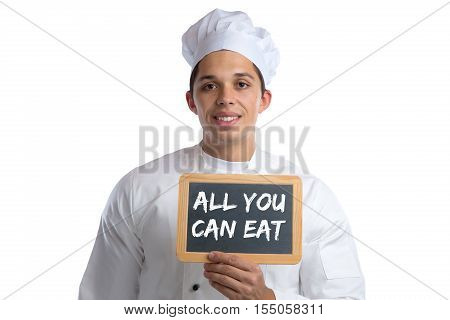 All You Can Eat Buffet Eating Lunch Dinner Restaurant Food Cook With Board Cooking Isolated