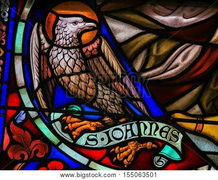 Stained Glass Of The The Eagle - Saint John The Evangelist
