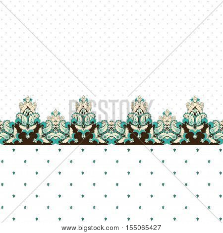 Abstract vector background. Two simple background and border. Oriental pattern with paisley and decorative items. Ample opportunities for use. Easily edit the colors.