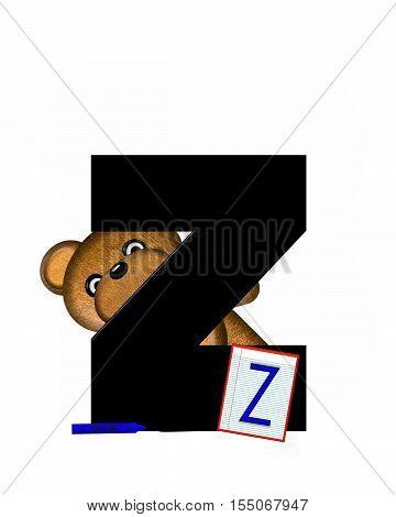 Alphabet Teddy Homework Z