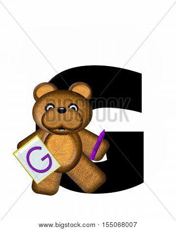 Alphabet Teddy Homework G