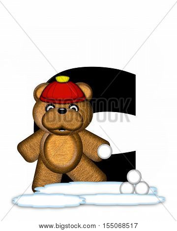 Alphabet Teddy Wintertime C