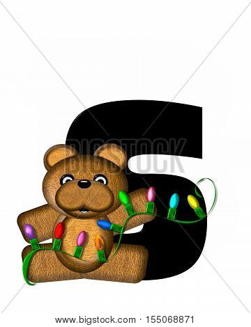 Alphabet Teddy Christmas Lights S