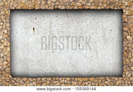 Concrete wall to break the stone masonry in the background