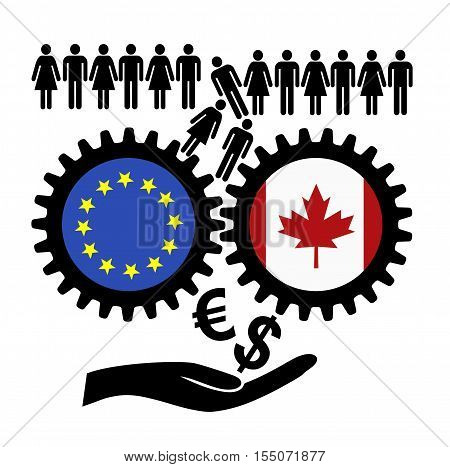 Fears over CETA. People in fear of the free trade agreement between Canada and the European Union