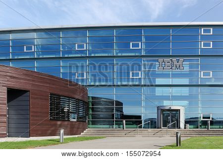 Aarhus, Denmark - September 11, 2016: IBM building and office in Aarhus, Denmark. International Business Machines Corporation commonly referred to as IBM is an American multinational technology and consulting corporation