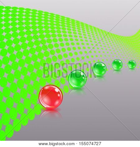 Concept with ball. Abstract concept. Vector eps10 illustration