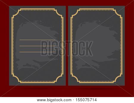 Vintage frame with text area. For your creative background