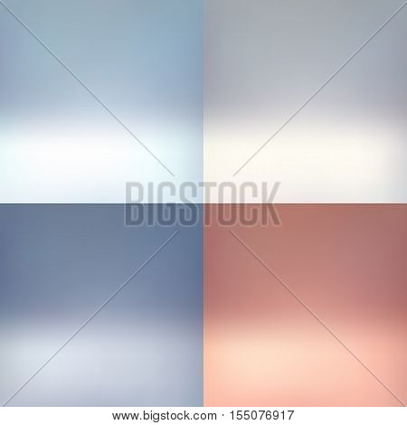 Clear empty photographer studio background Abstract set, background texture of beauty dark and light white gradient flat wall and floor.