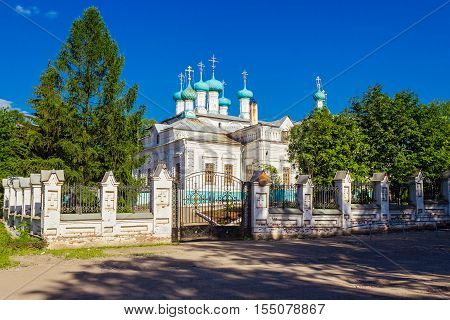 Viev of St. Catherine's Cathedral in Slobodskoy. Russia.