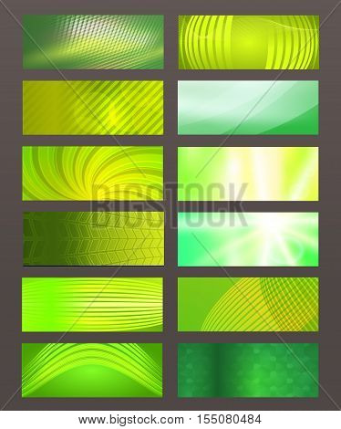 Set Horizontal Banner Design Element Background Glow Abstract Shape01