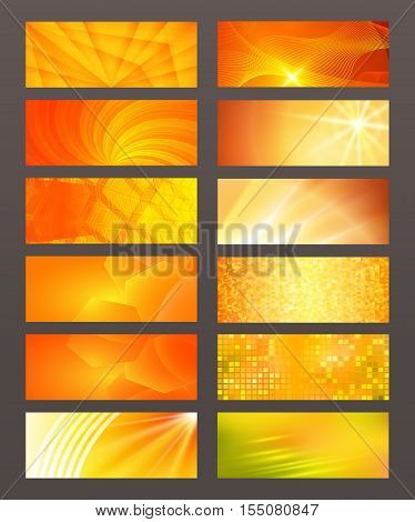 Set Horizontal Banner Design Element Background Glow Abstract Shape03