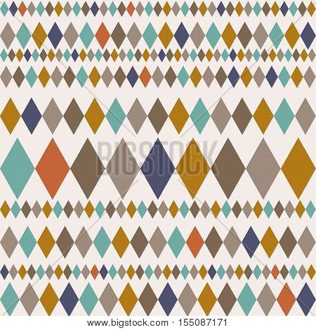 Seamless pattern with rhombuses. Modern stylish texture. Geometric ornament with colorful rhombuses. Use for  cloth design cover textile weave wrapping fabric paper