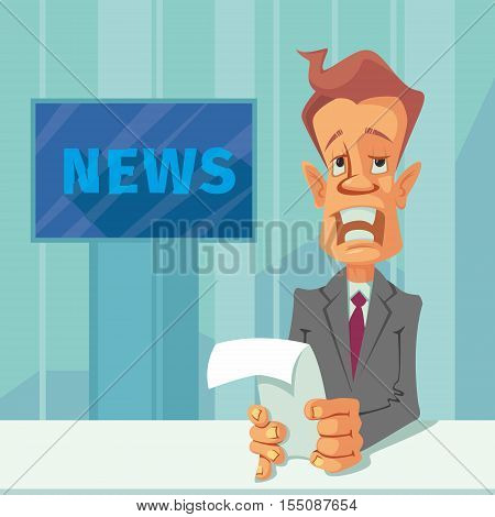 Anchorman with the release of breaking news