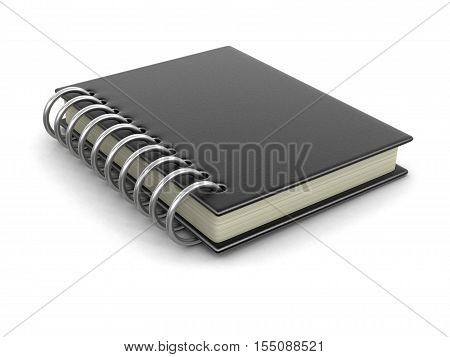 3D Illustration. Book with hard cover. Image with clipping path