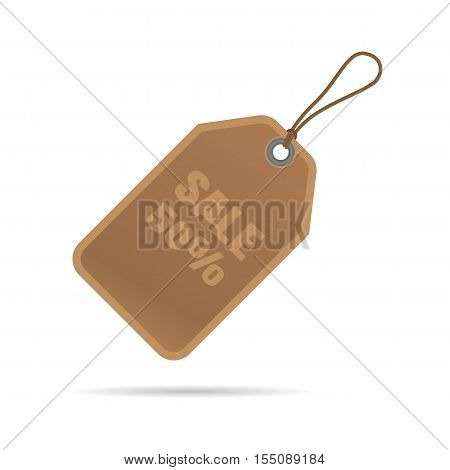 Regtangle shape Blank Sale Tags or Price tags Design for business or e-commerce.