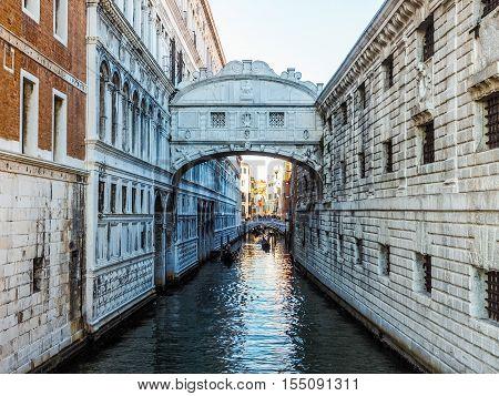 Bridge Of Sighs In Venice Hdr