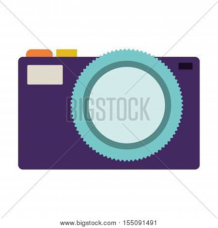 photographic camera device icon over white background. vector illustration