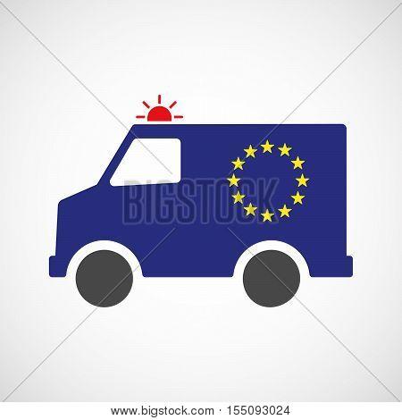 Isolated Ambulance Furgon Icon With