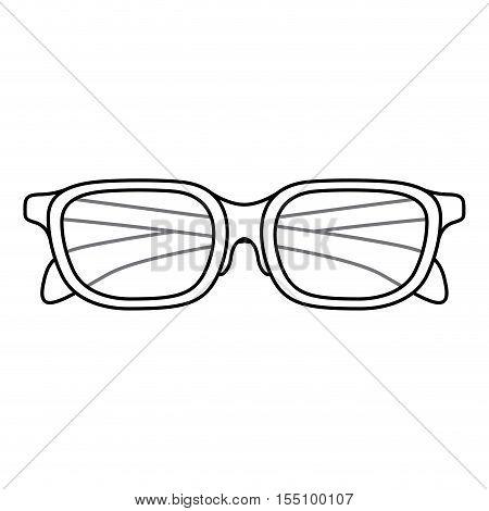 Glasses icon. Fashion style accessory eyesight and optical theme. Isolated design. Vector illustration