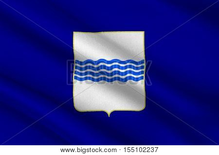 Flag of Basilicata also known as Lucania is a region in the south of Italy. 3d illustration