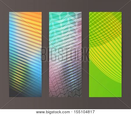 Vertical Banner Set Design Element Background Glow Abstract Shape09