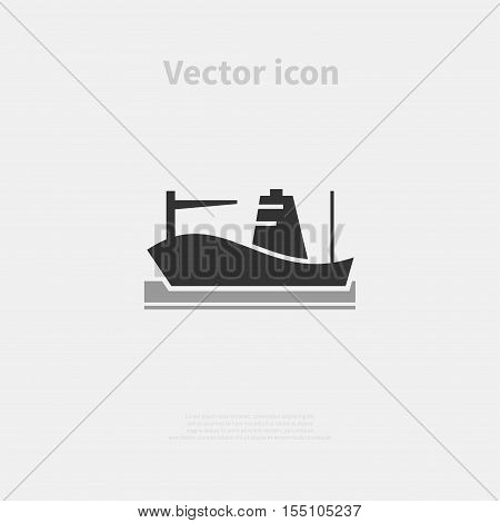 Cargo ship icon isolated on background. Vector illustration