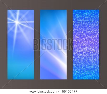 Vertical Banner Set Design Element Background Glow Abstract Shape14