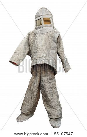 Protective Fire Proximity Suit as Fireproof Clothing isolated on white background
