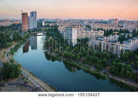 Rusanovka - district in left bank of Kiev, Ukraine