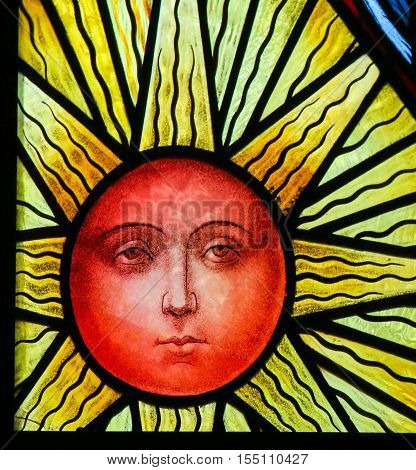 Sun - Stained Glass