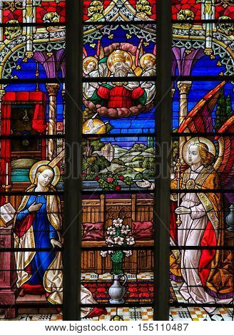 Stained Glass - The Annunciation