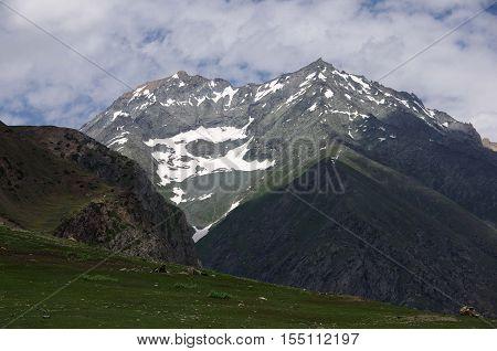 Landscape between Sonamarg and Kargil in Ladakh, India