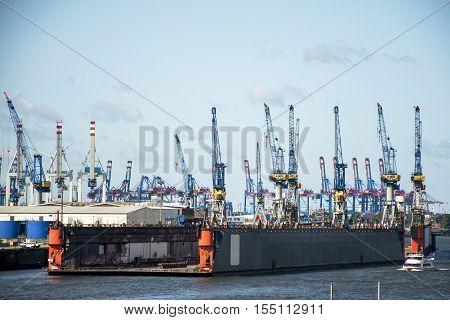 Port Hamburg in Germany biggest industrial Harbor 2