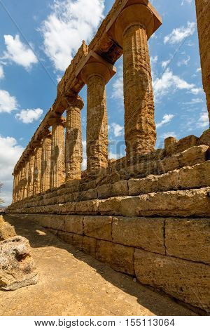 Ancient Greek Temple Of Juno In Agrigento