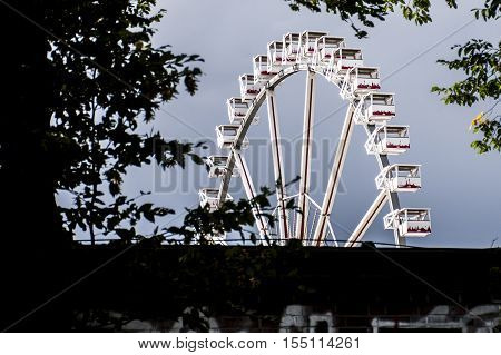 Hamburg City Germany The Dom fun park carousel roundabout