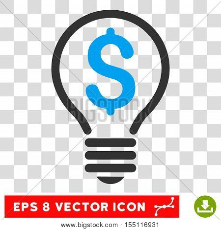 Patent Bulb EPS vector icon. Illustration style is flat iconic bicolor blue and gray symbol.