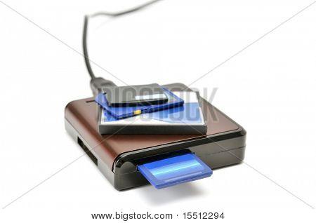 Kartenleser-isoliert auf einem weißen