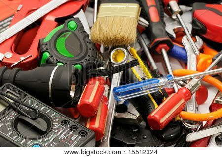 tools on a white background