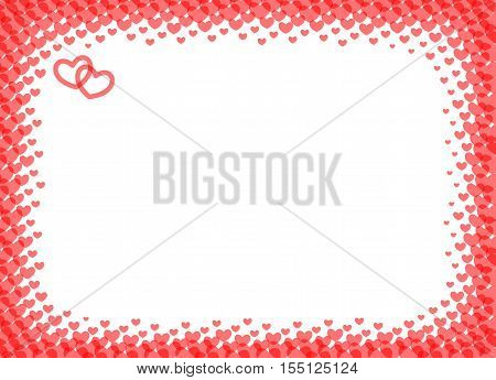 Heart frame for foto. Vector from heart quiality frame