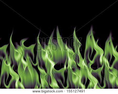Green dark blaze flame fire burn background