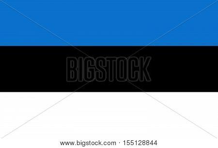 Official vector flag of Estonia . Republic of Estonia .