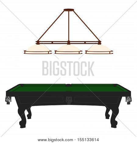 Pool Table And Lamp
