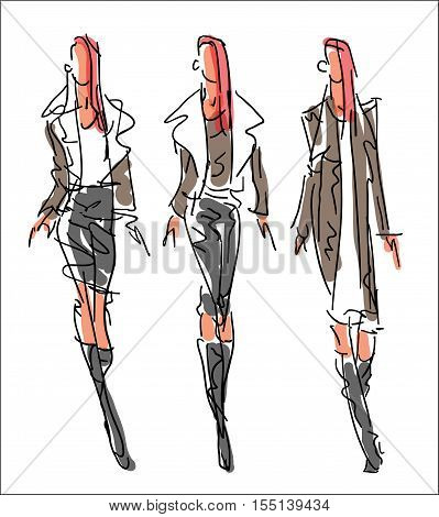 Sketch Fashion - women in business style