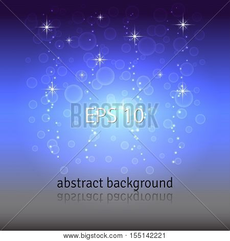 Abstract vector background. Night sky sparkles and stars.