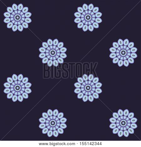 Seamless vector background. Abstract floral elements. Easy to change colors.