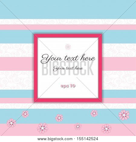 Vector abstract background with frame for your text. Color easily changed. Perfect as invitation or congratulation.