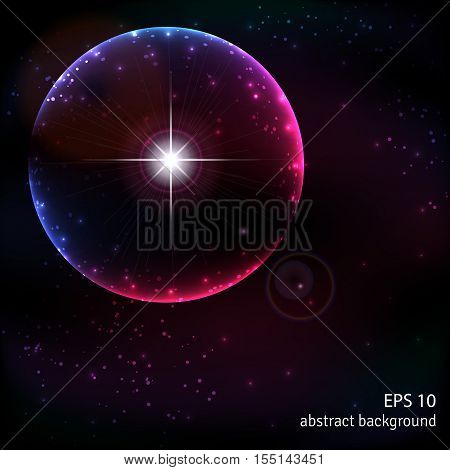 Abstract vector background. Outer space and the explosion of a supernova.